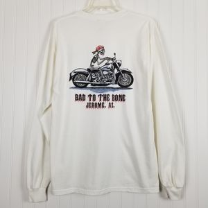 Motorcycle Tshirt Bad To The Bone Long Sleeve M